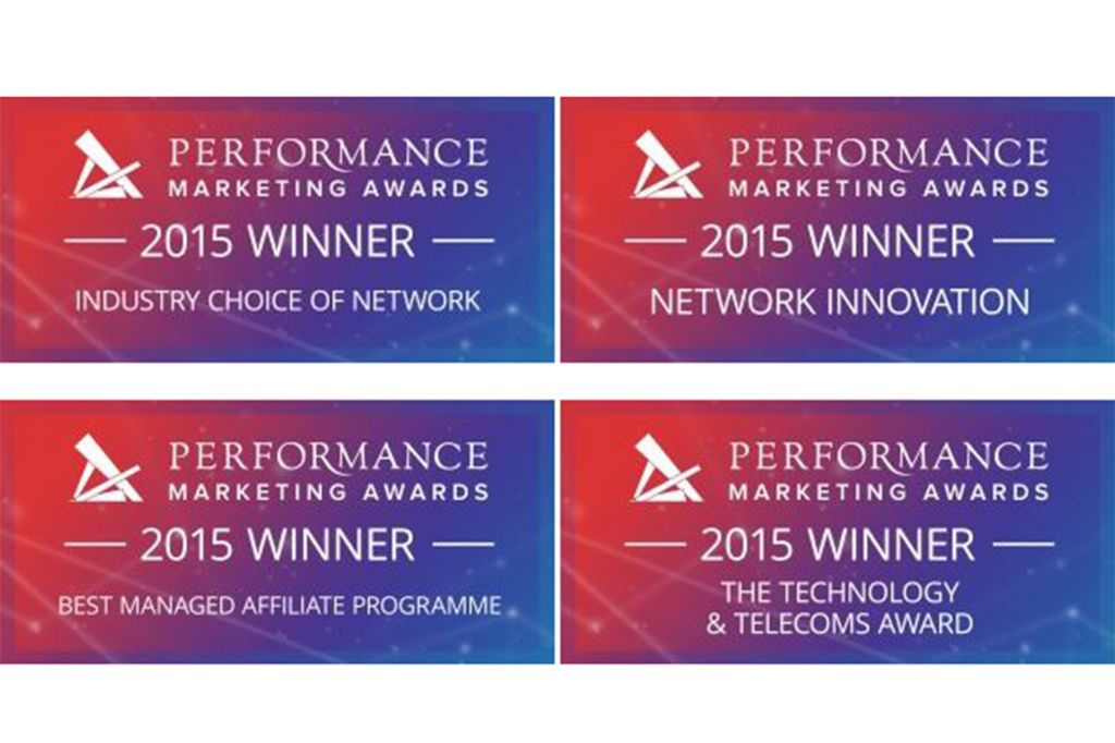 Performance marketing awards badges for wins