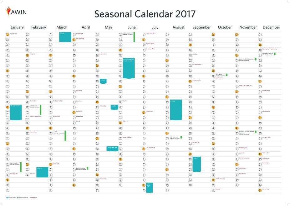 2017 Seasonal Calendar US