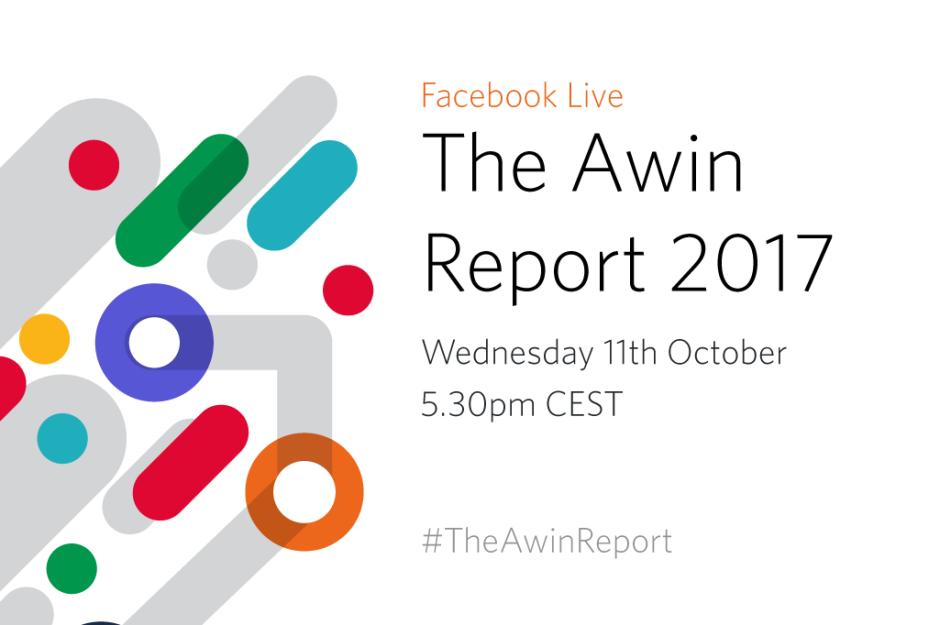 Visual per il lancio dell'Awin Report