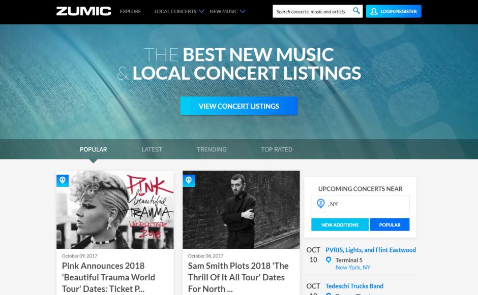 Zumic website