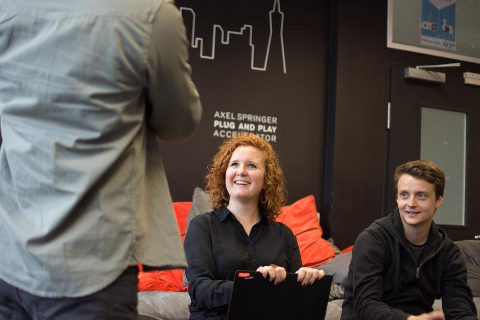 Un membro del Global Publisher Team Awin durante l'incontro