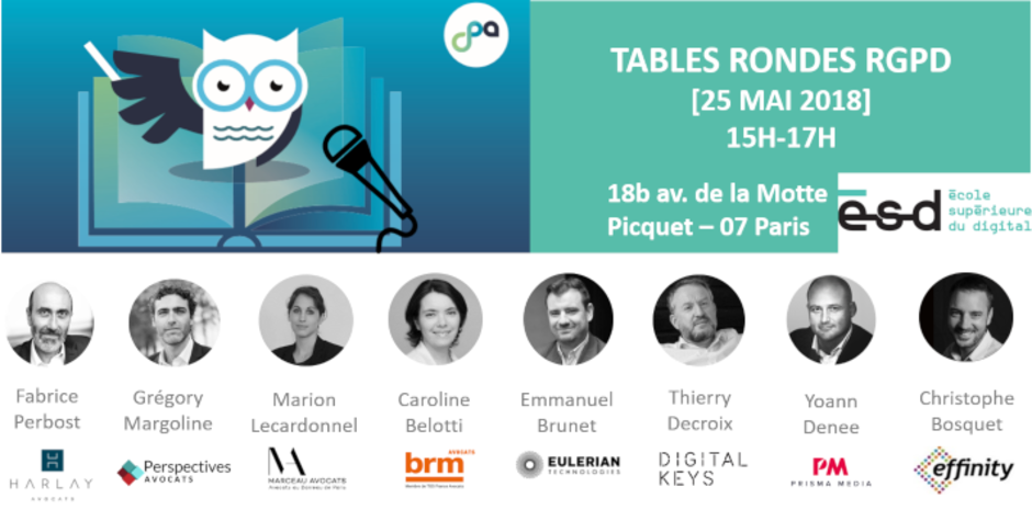 Overview attendees les tables rondes RGPD