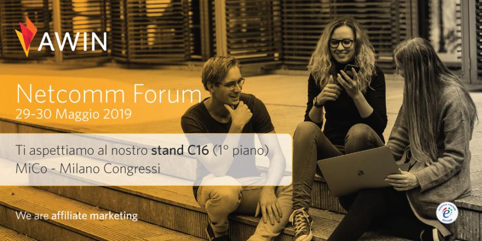 Creatività Awin realizzata per il Netcomm Forum 2019
