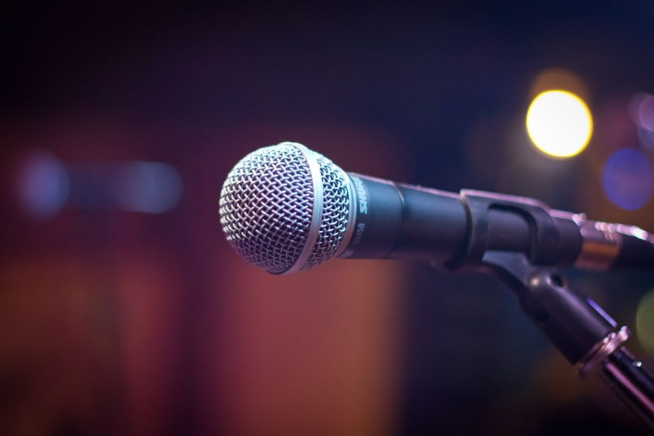 Photograph of a microphone