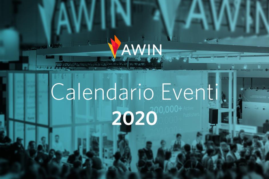 Il nuovo calendario eventi di Awin