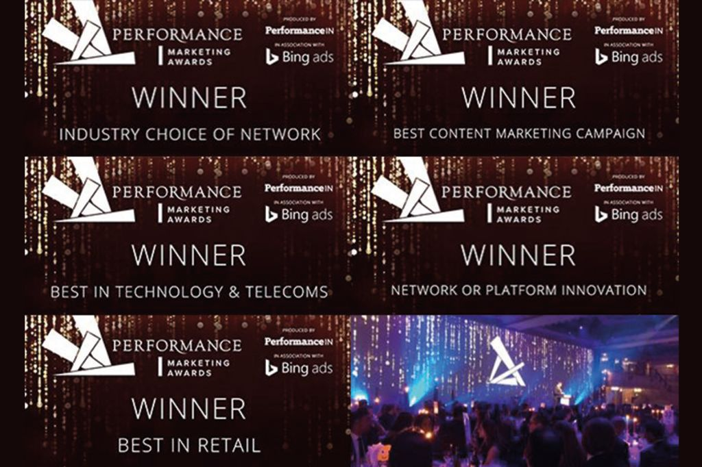 Performance marketing awards badges from wins