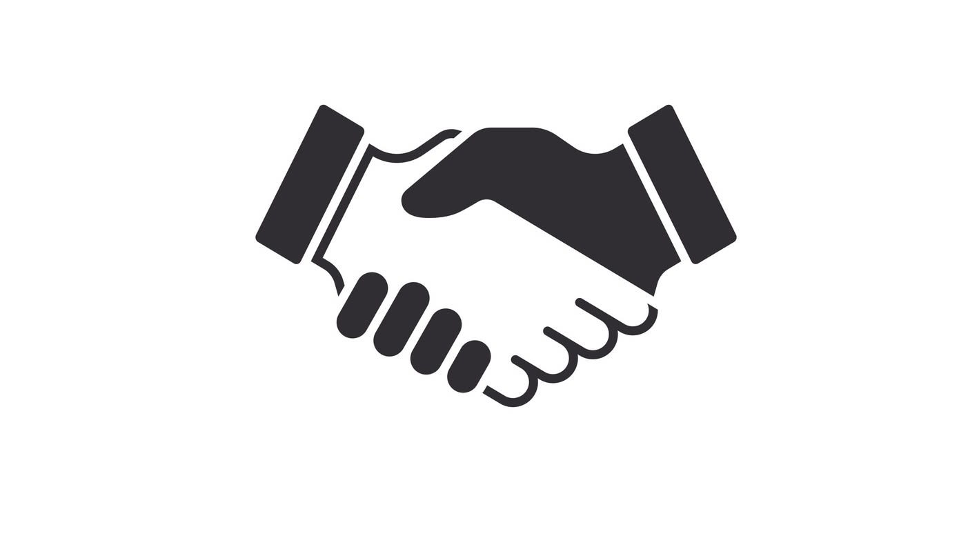 An image of two hands interlocking in a handshake detailing the affiliate network.