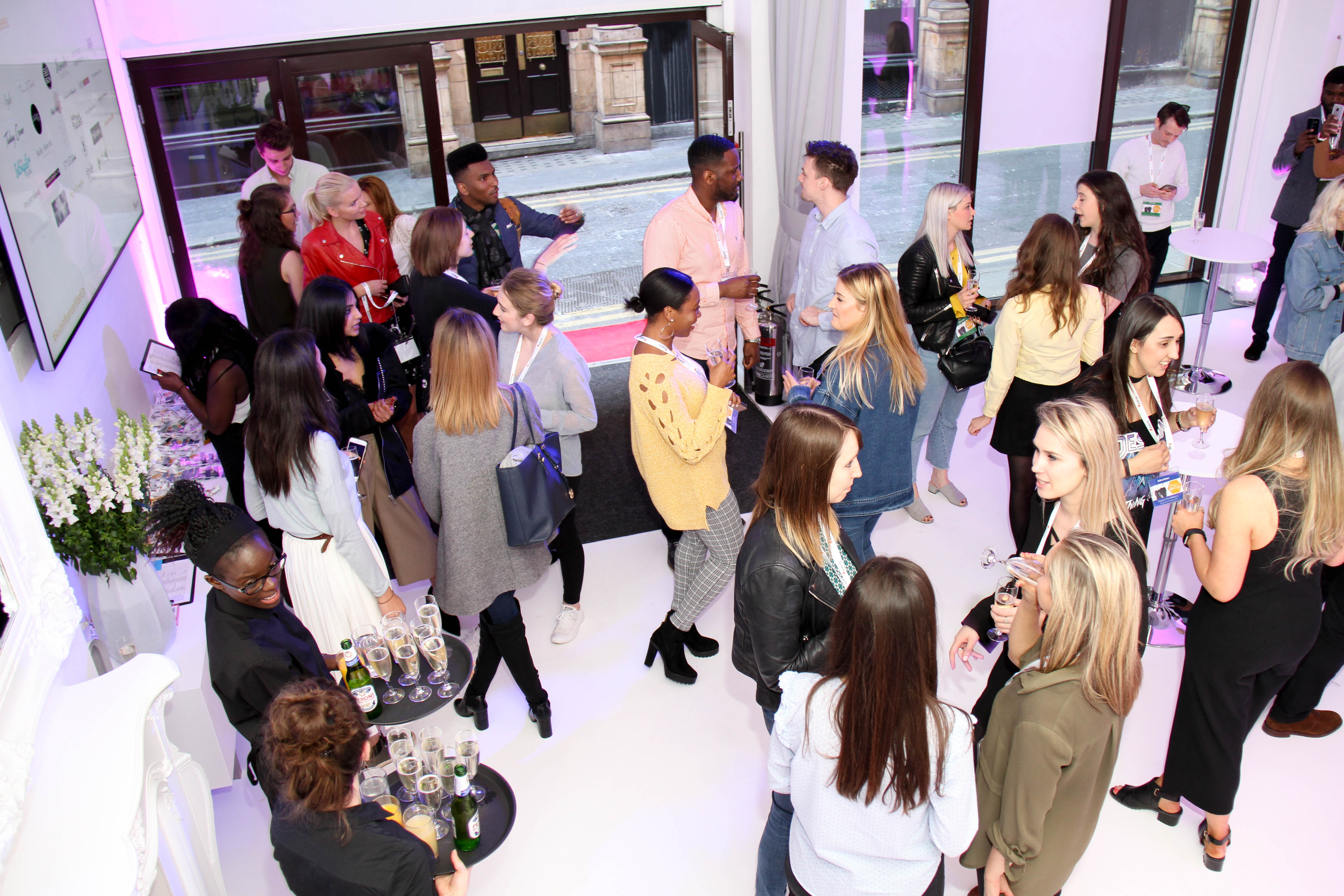 A photo of guests networking at the ICETANK event.