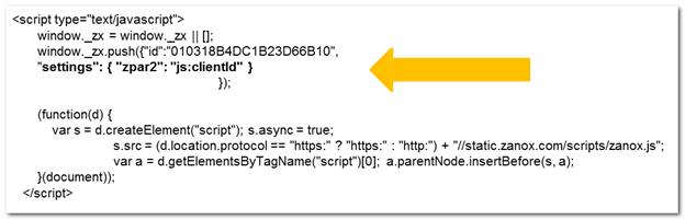 Zanox erweiterter Code