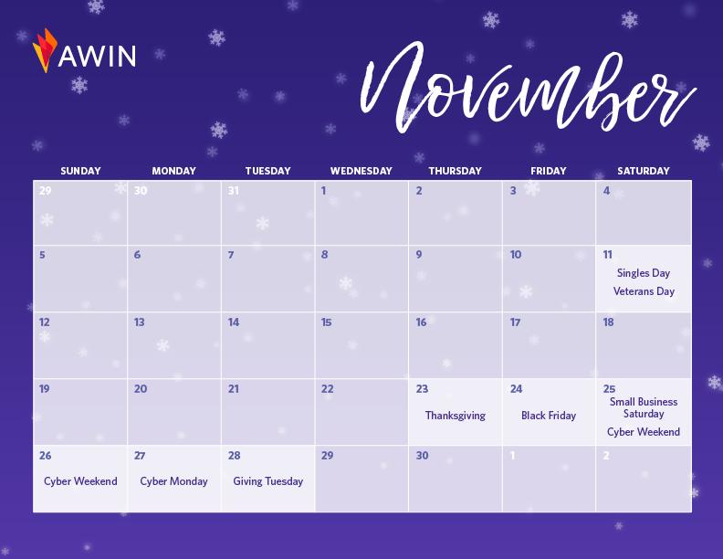 November Q4 calendar