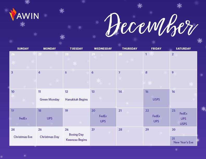December Q4 calendar