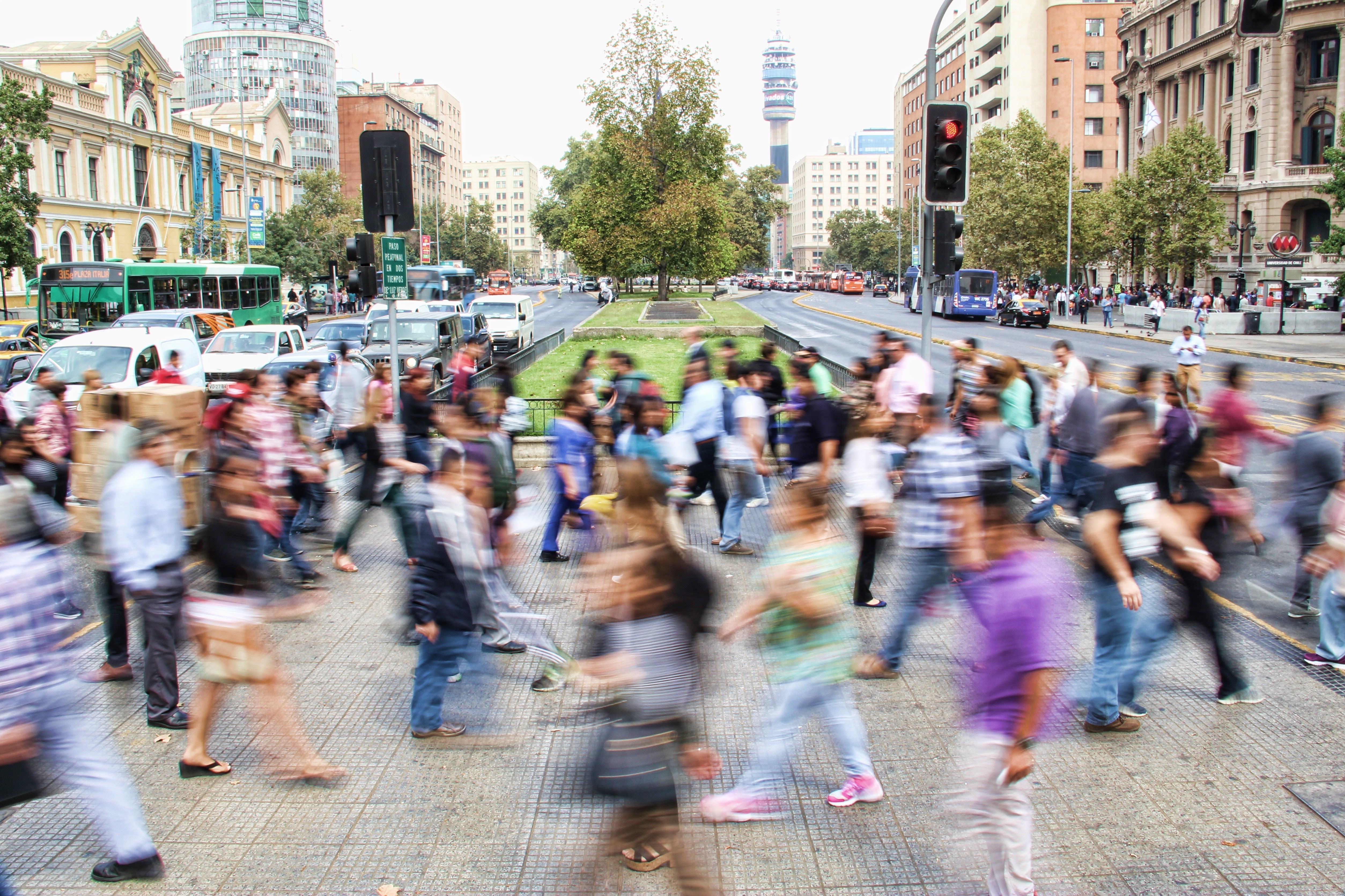 folla che si muove