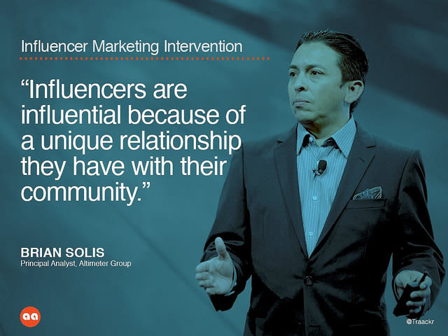 Influencer marketing intervention
