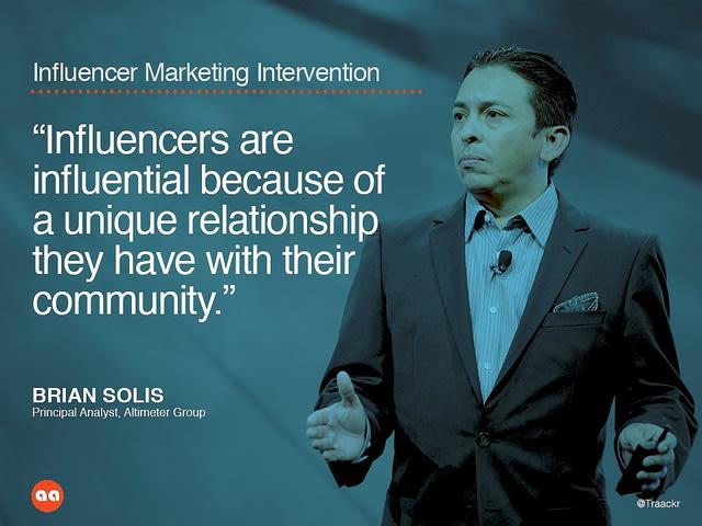Influencer marketing intervention
