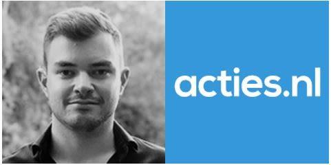 Portrait Vince Franke und Logo acties.nl