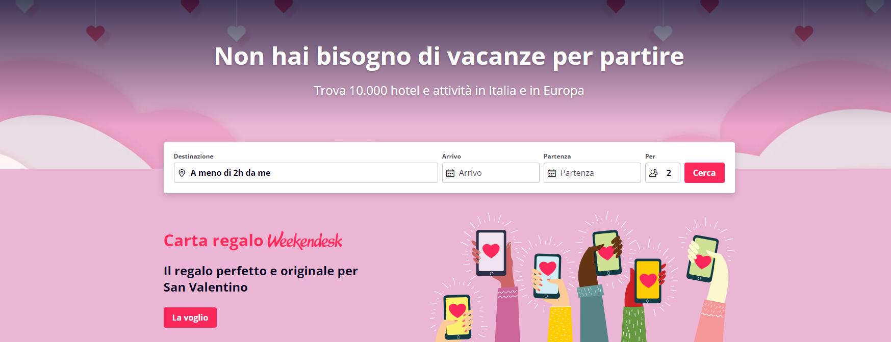 Homepage Weekendesk
