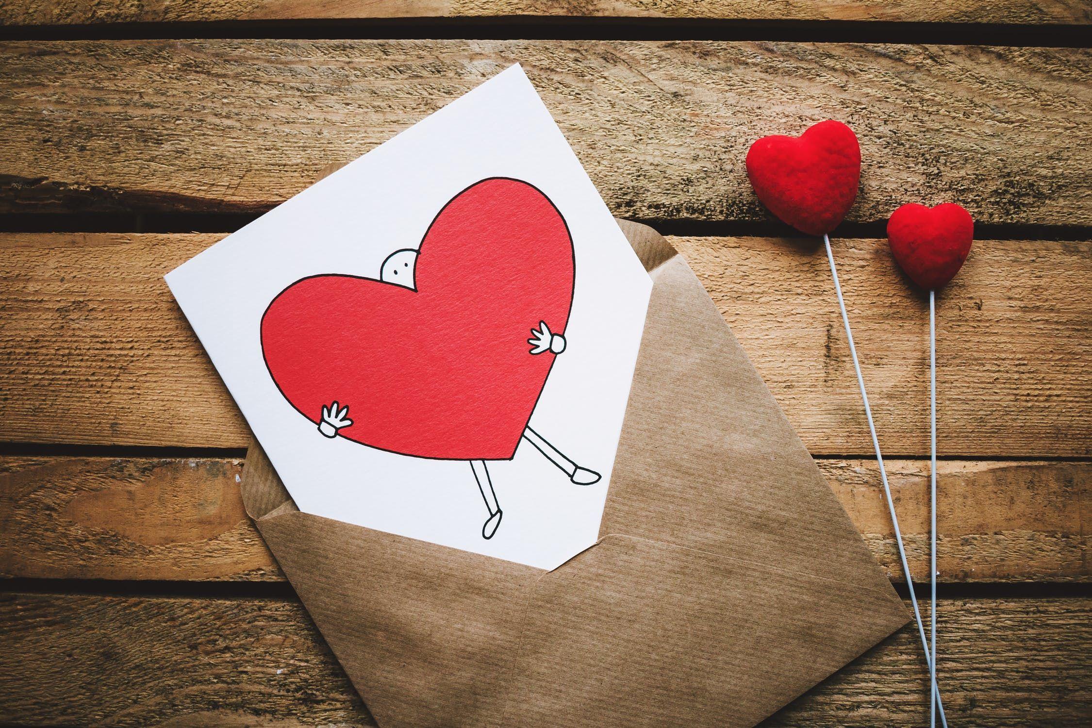 Valentinstag, Grußkarte, Herzen