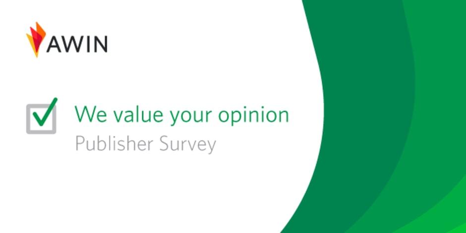 Banner Awin per la publisher survey