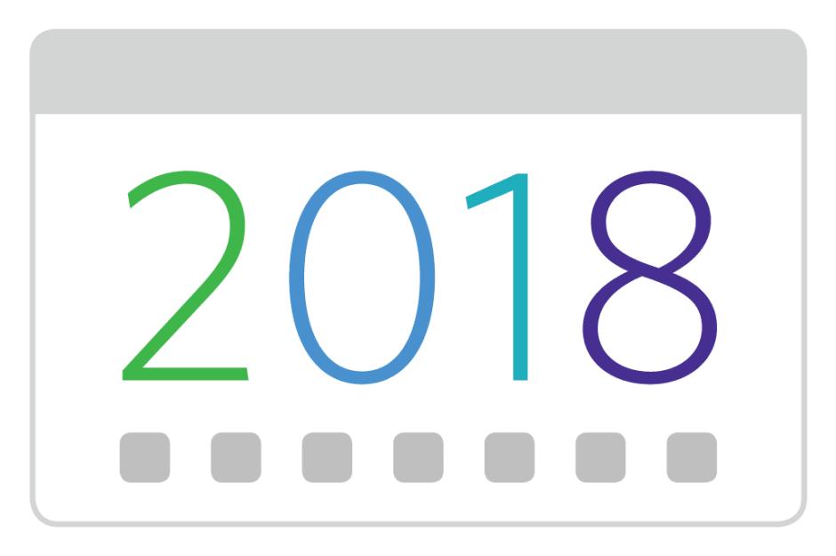 2018 seasonal calendar