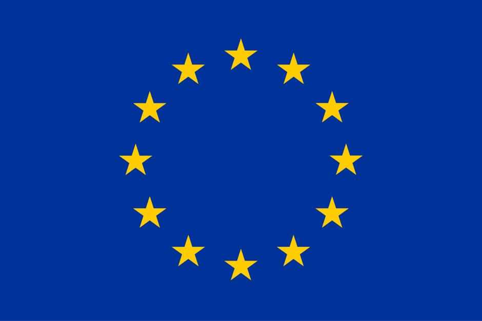 blaue Flagge mit gelben Sternen