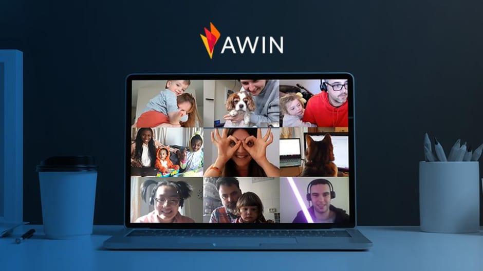 Screenshot di una call in Awin