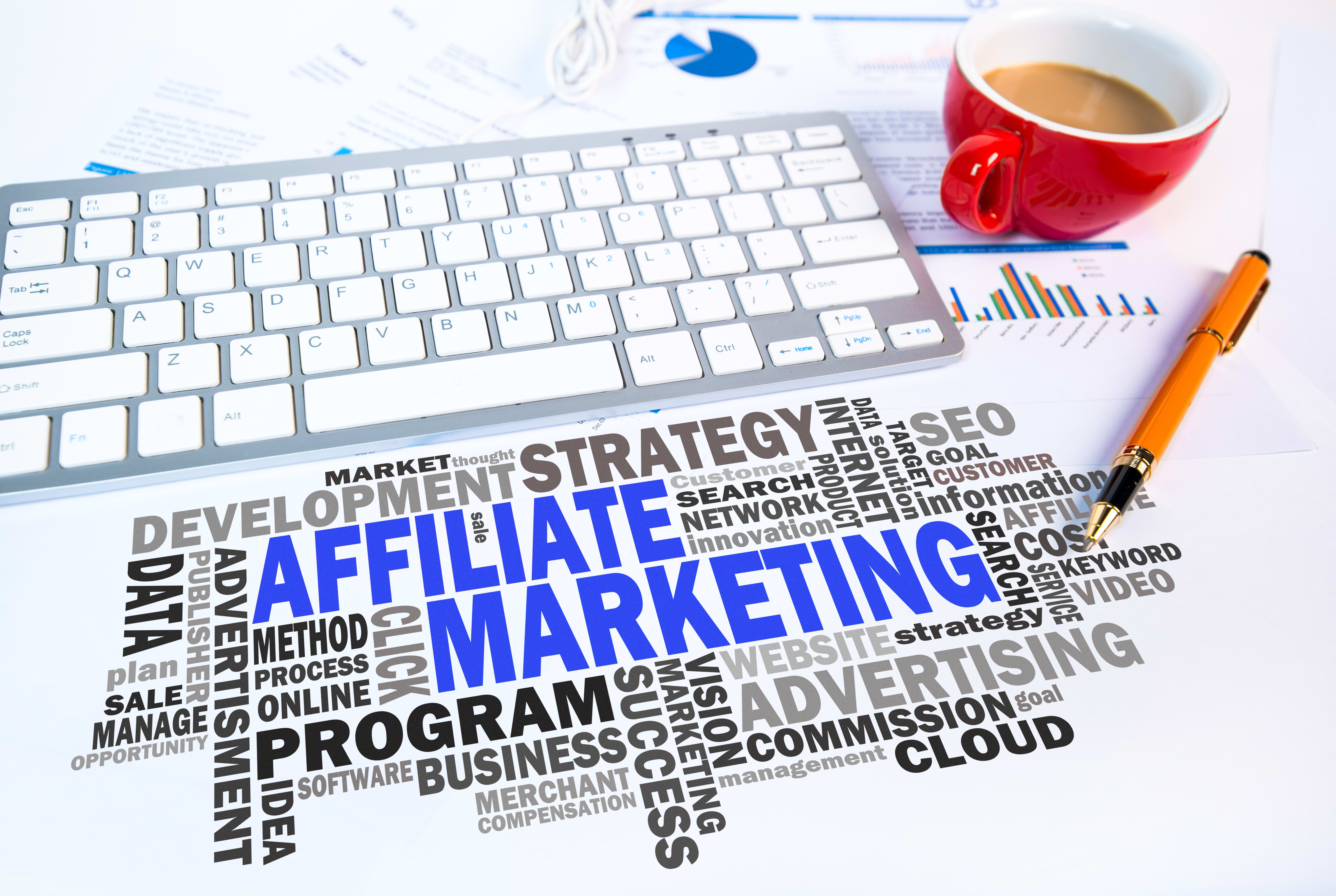 affiliate marketing computer graphic