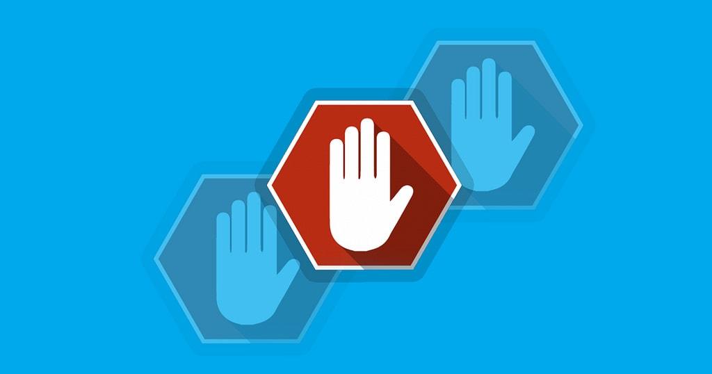 affiliate adblocking hand