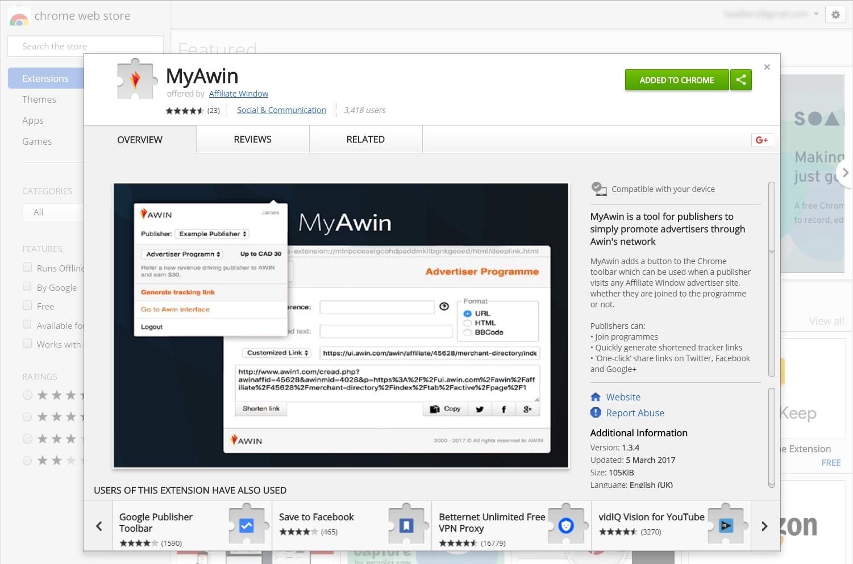 MyAwin screenshot