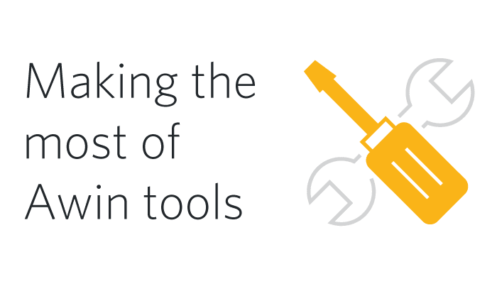 Making the most of Awin tools