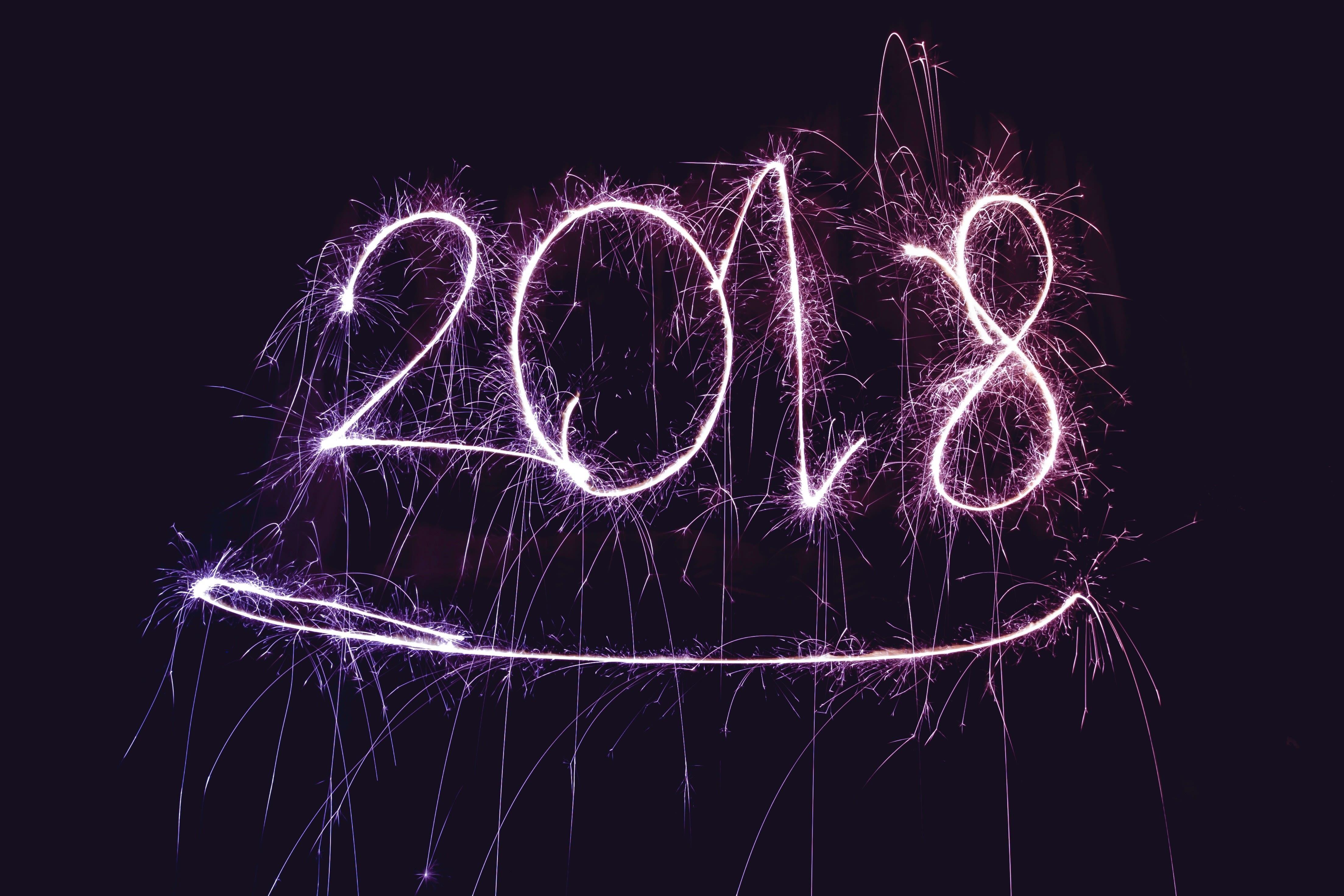 2018 scritto in cielo