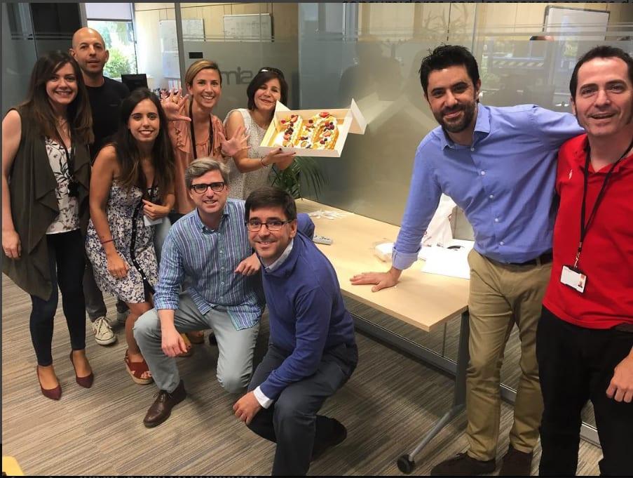 Foto: Los responsables del programa de Afiliación, celebrando su 10º aniversario juntos
