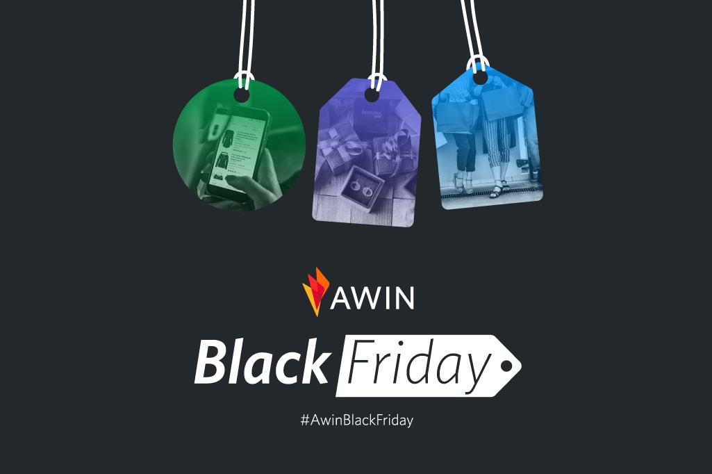 Creatività Awin realizzata per il Black Friday
