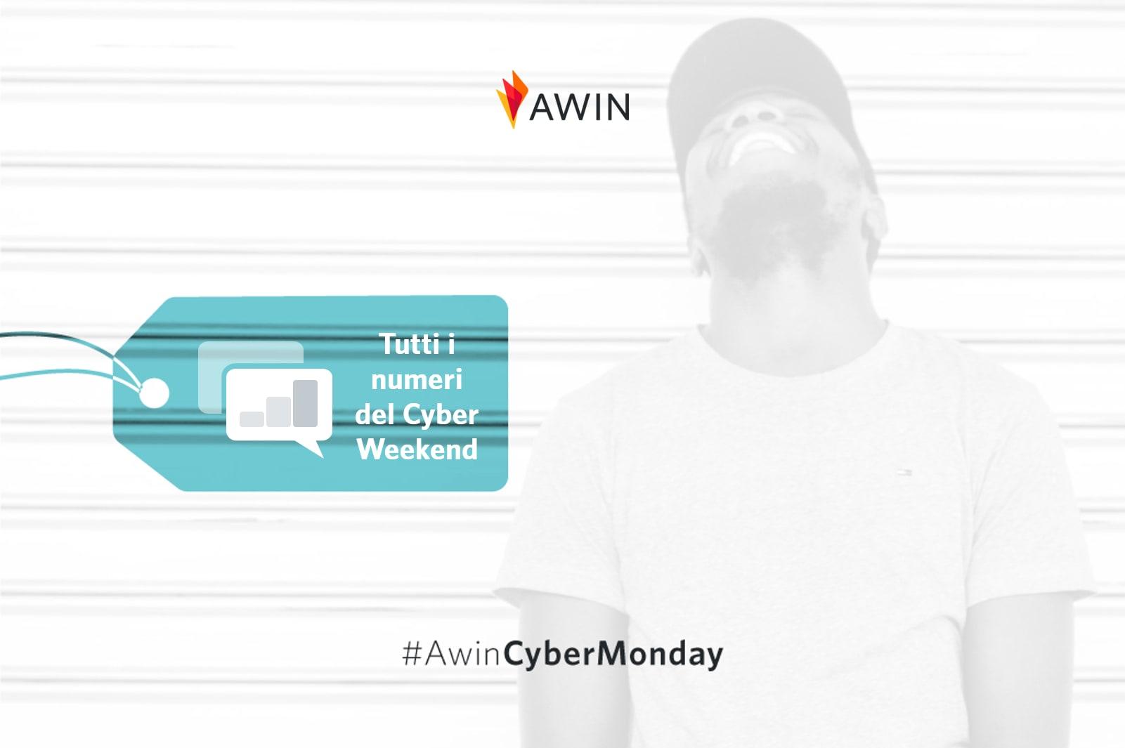Creatività Awin realizzata per il Cyber Weekend