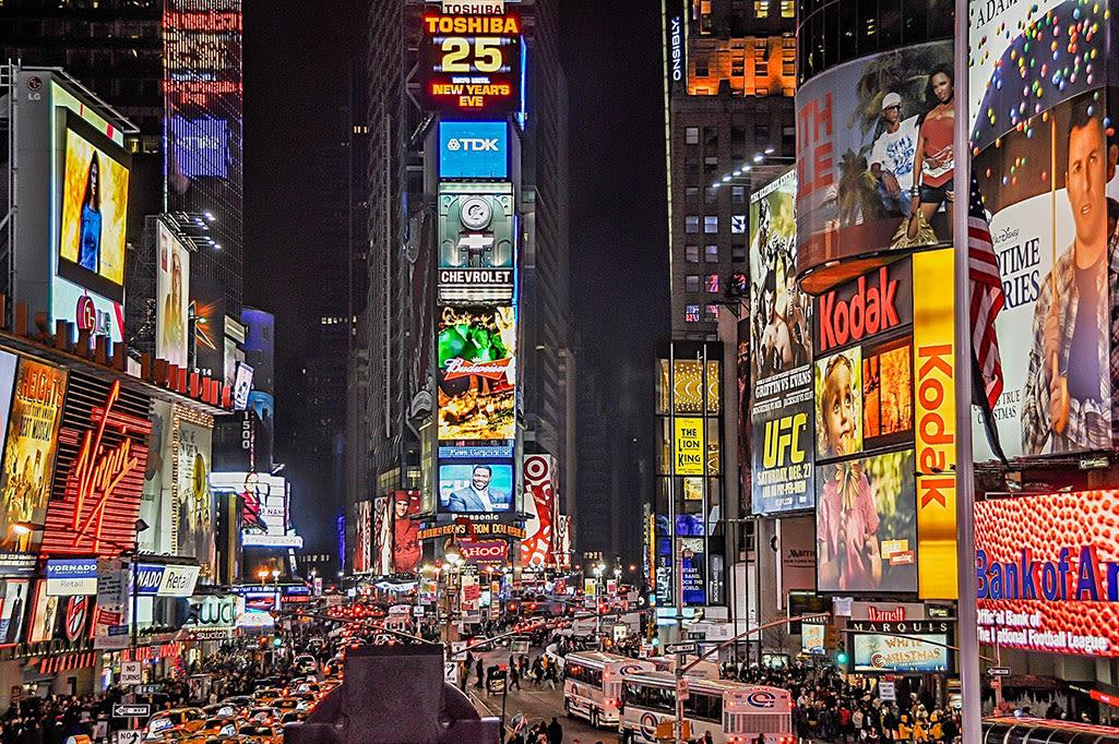 Times Square e le luci della pubblicità