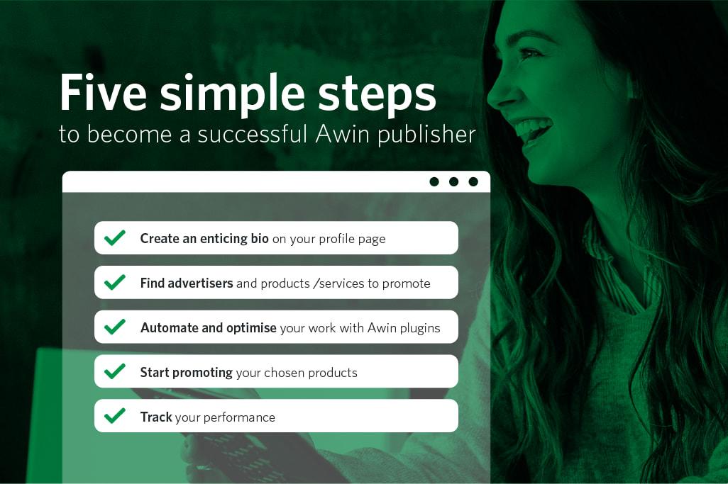 Cinco sencillos pasos para convertirte en un afiliado de éxito en Awin