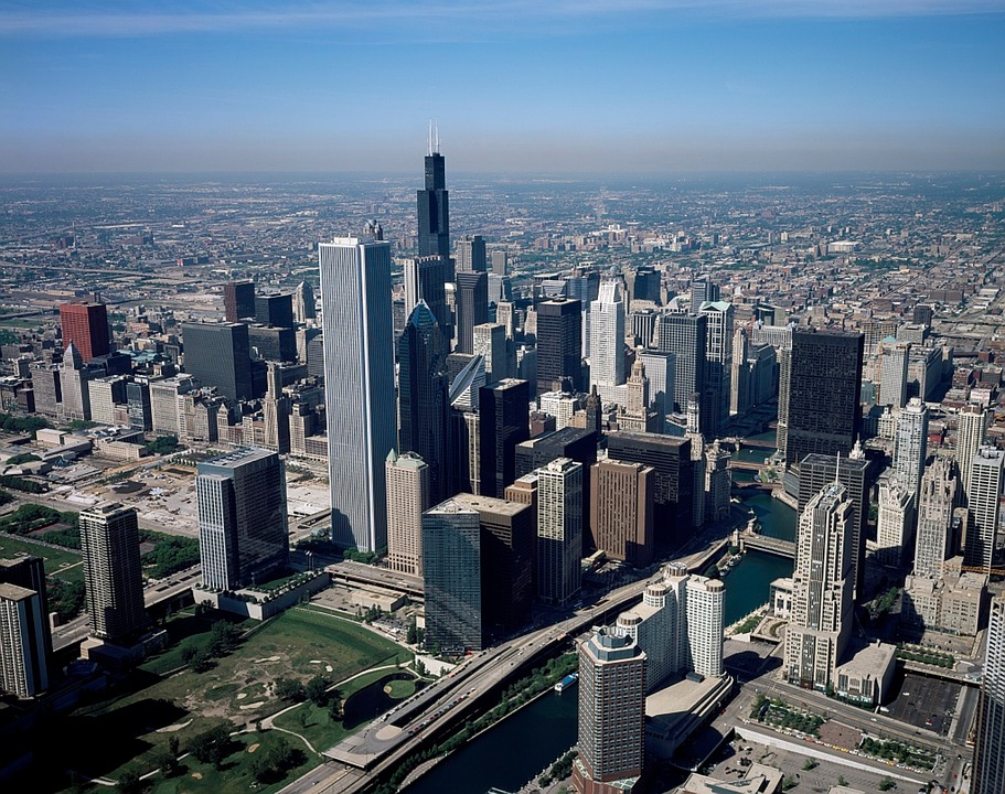 USA skyline buildings