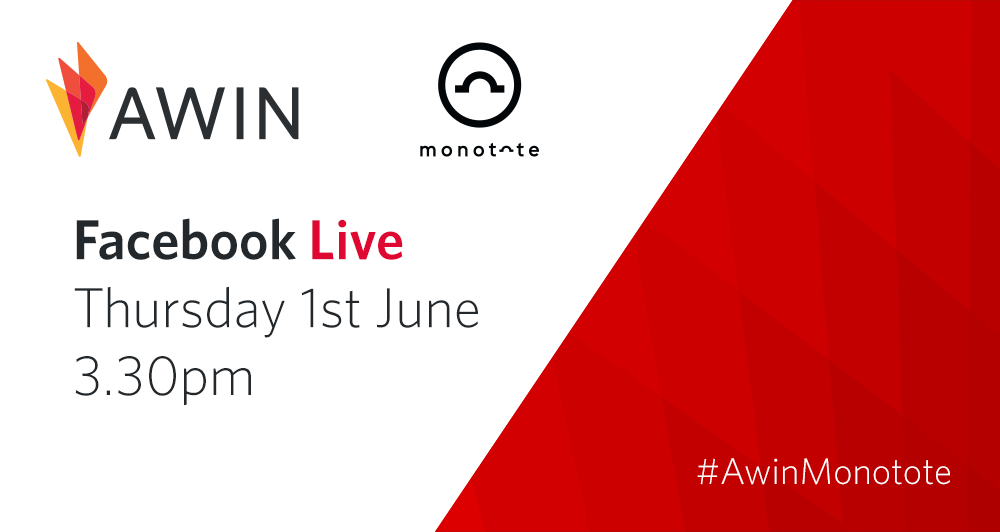Monotote and Awin Facebook Live graphic