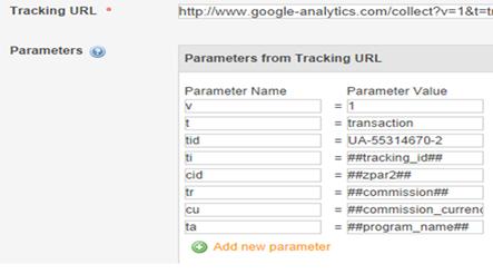 Tracking URL Parameter